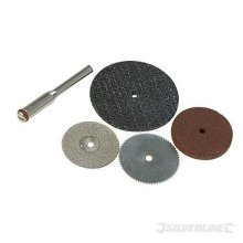 Silverline Rotary Tool Cutting & Grinding Disc Set 5pce 22, 32mm Dia - 783161 -  cutting disc silverline tool 5pce dia rotary grinding set 783161