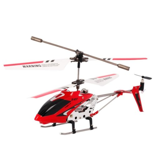 Syma S107G Infrared Controlled Helicopter with Gyroscopic Stability Control - Red