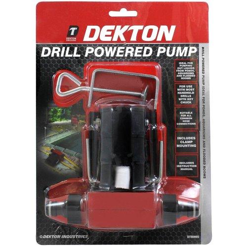DEKTON DT80995 Drill Pump, 240 V, Silver