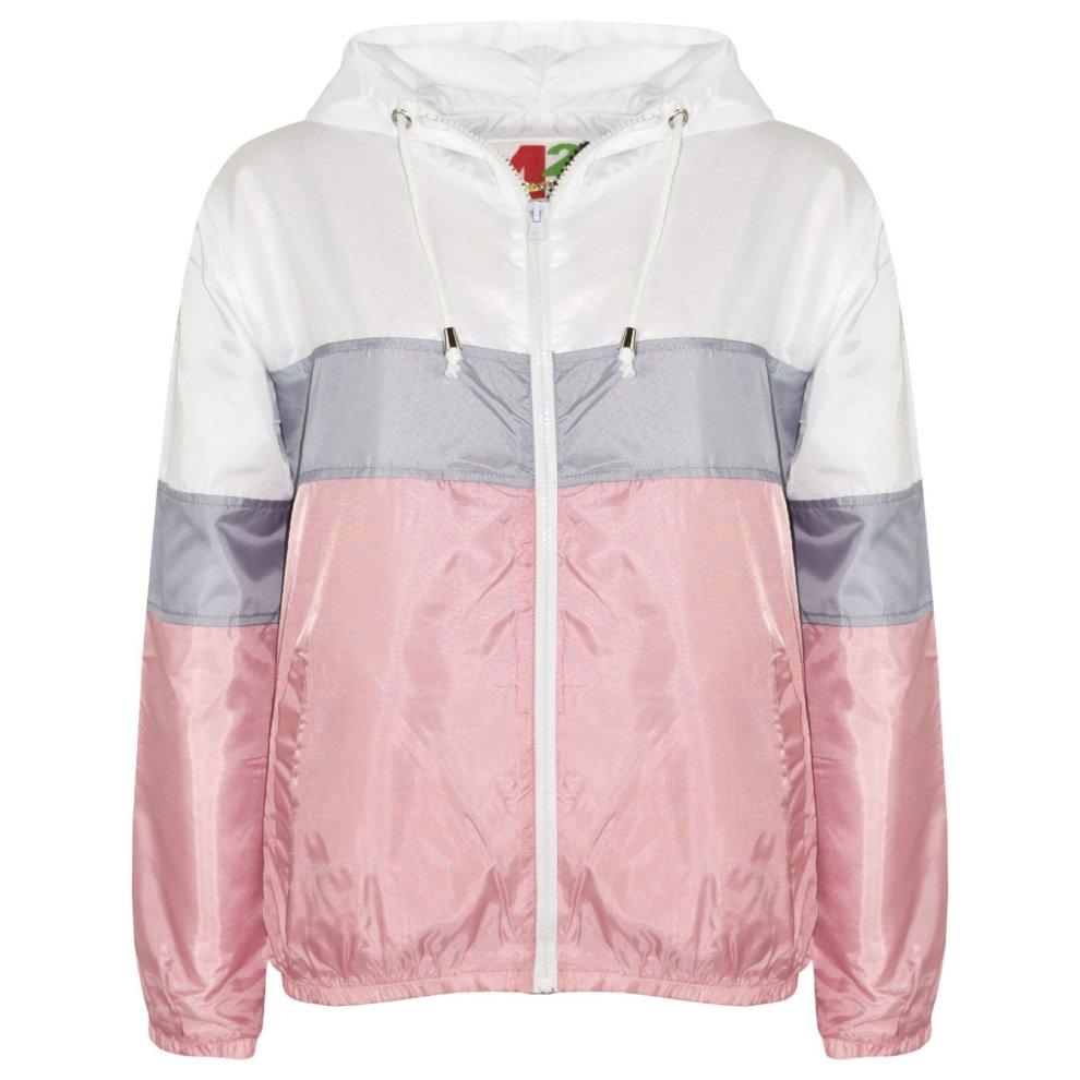 Kids Girls Jacket #Selfie Embroidered Baby Pink Zipped Top Hooded Hoodie 5-13 Yr