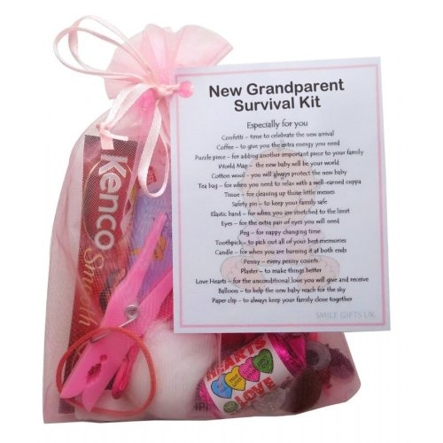 New Grandparent's Survival Kit (Pink) - Great novelty gift for a new grandparent!