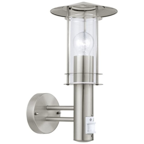 EGLO Outdoor Sensor Wall Light Lisio 60 W Silver 30185