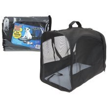 Playful Pets Black Pet Carrier Case Collapsible Fold Away Small Dog Puppy -