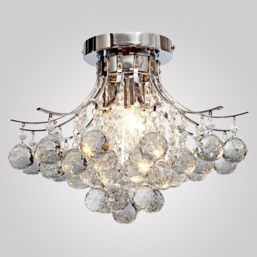 HOMCOM Modern K9 Crystal Ceiling Lighting Chandelier