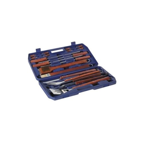 18 Piece Stainless Steel and Hardwood Barbecue Tool Kit