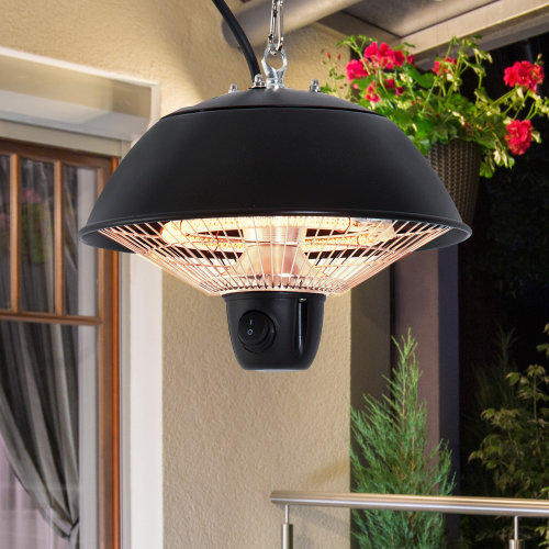 Outsunny Patio Ceiling  Electric Heater, 600W-Black