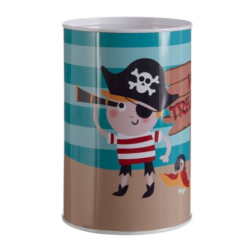 Pirate Money Tin, Multi-Colour