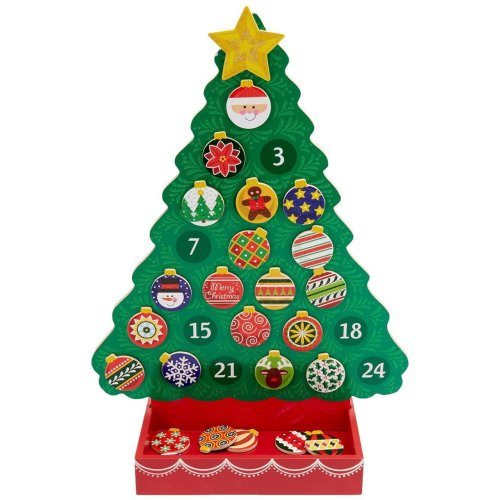 Melissa & Doug - 13571 - Countdown to Christmas Wooden Advent Calendar