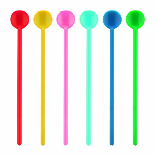 Bodum 2816-XY-70 Bistro Stirring Spoons, Large, Pack of 6, Assorted Colours