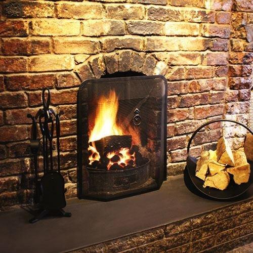 a'la Maison Fireside Fireplace Black Fire Guard Spark Protector Shield Screen
