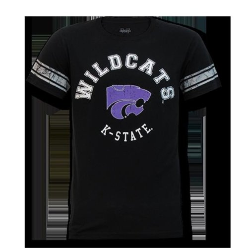 W Republic Mens Football Tee K-State, Black - Extra Large