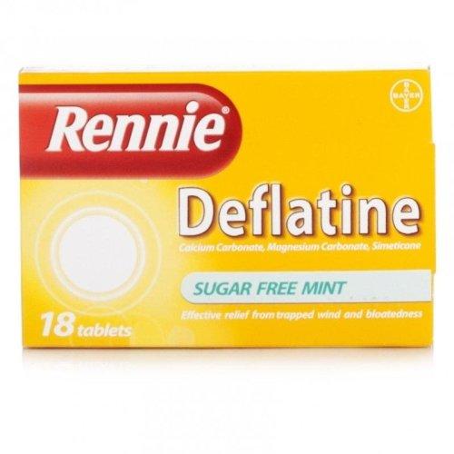 Rennie Deflatine Sugar Free Mint 18 Tablets