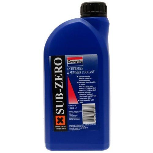 Sub-Zero Antifreeze & Summer Coolant - Concentrated - 1 Litre