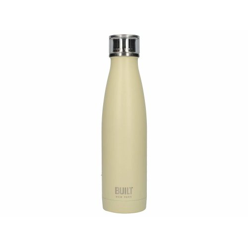 BUILT Perfect Seal Double-Walled Insulated Stainless Steel Drinks Bottle, 480 ml (17 fl oz) - Vanilla