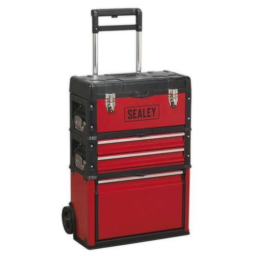 Sealey AP548 Mobile Steel/Composite Toolbox - 3 Compartment