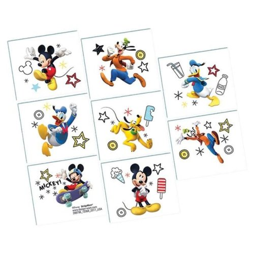 AmScan AM398796 Disney Mickey Tattoos - 8 per Pack