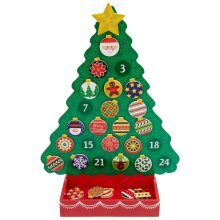 Melissa & Doug - 13571 - Countdown to Christmas Wooden Advent Calendar