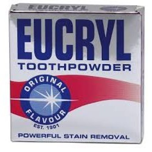 6 X Eucryl Toothpowder Original Stain Removing 50g Powder