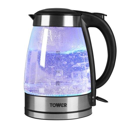 Tower T10018 2200W 1.7L Illuminating Glass Jug Kettle