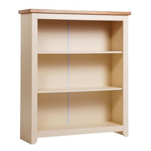 James Wood Low Cream Bookcase 3 Shelves