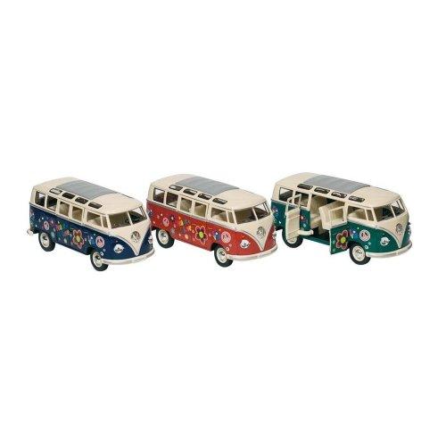 VW Camper Van Bus Red Hippy Volkswagen Microbus 1: 24Model car 12176