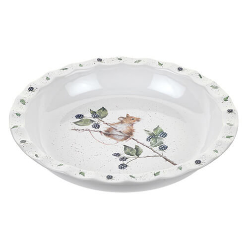 Wrendale Pie Dish (Mouse), Bone China, Multi Coloured, 27.5 x 27.5 x 4.5 cm