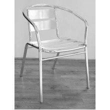 Celia Aluminium Outdoor Stacking Chair Rounded Set of 4