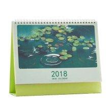 Floral Desktop Calendar Sept 2016 to December 2017 Office Desk Calendar