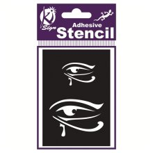 Egyptian Eye Air Brush Adhesive Stencil