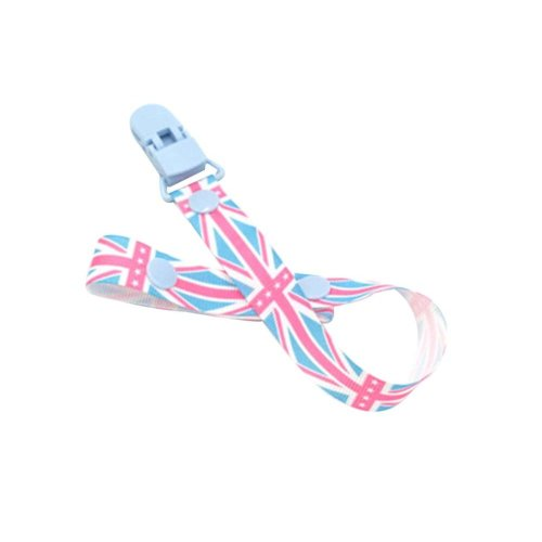 Set of 2 Lovely Baby Pacifier Leashes Safe&Non-toxic,Blue