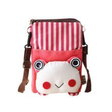 Creative Canvas Phone Bag Korean Version Of Lovely Girl Small Cloth Bag Red Frog