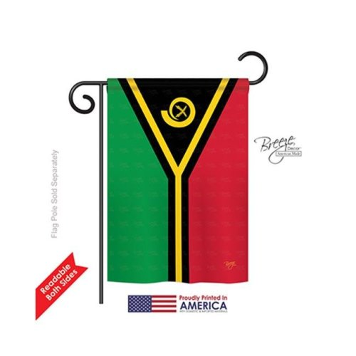 Breeze Decor 58350 Vanuatu 2-Sided Impression Garden Flag - 13 x 18.5 in.