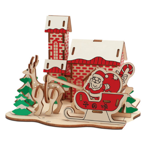 3D Wooden Puzzle DIY Toys Meaningful Christmas Gifts - Santa Claus