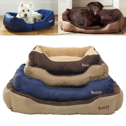 Bunty Deluxe Dog Bed | Soft Fleece Pet Bed