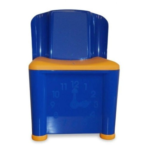 Kids Storage Activity Play Chair Blue And Yellow