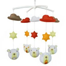 [Cute Animals]Handmade Baby Crib Mobile, Hanging Toy, Colorful Decoration