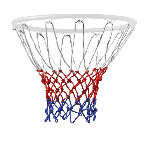 Trixes 12 Loop Nylon Basketball Hoop Net - Red, White & Blue
