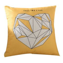 Yellow Warm Series of Cotton and Linen Fashion Pillow