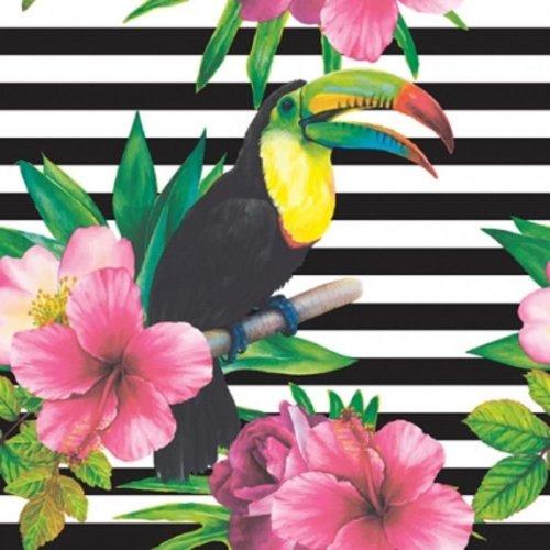 4 x Paper Napkins - Tropical Rainbow Toucan  - Ideal for Decoupage / Napkin Art