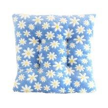 """Coral Fleece Chair Cushion Thick Floral Chair Pad Cute Pillow 14"""" (Blue)"""