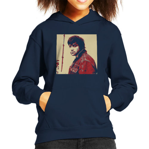 Oliver Reed English Actor Poster Style Print Kid's Hooded Sweatshirt