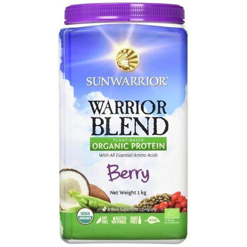 Sunwarrior Warrior Blend Organic Raw Vegan Protein Powder, Berry, 1kg