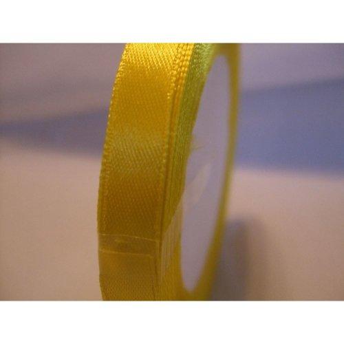 Satin Ribbon Roll - 10mm Wide - 25 Yards (22 Metres) - Yellow