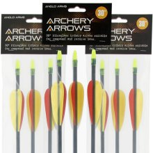Anglo Arms- Pack of 6 30 inch Fibreglass Arrows For All Bows