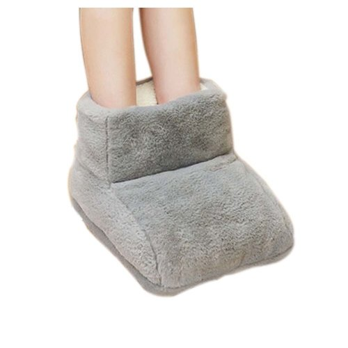 [Gray green] USB Foot Warmer Heating Pad Slippers Washable For Home/Office Warm Feet Treasure