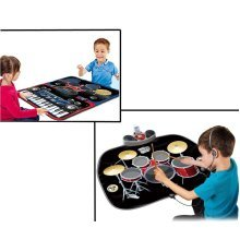 Electronic Music Jam Play Mat - Portable Sensitive Touch Set Includes Drumsticks and AUX Cable