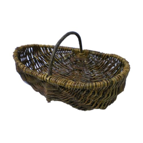Rustic Willow Garden Trug Basket for Vegetables or Flowers