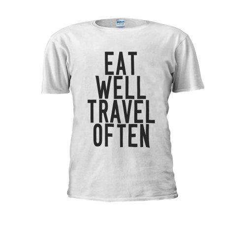 Eat Well Travel Often Tumblr Holiday Men Women Unisex Top T Shirt