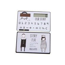 Creative Mini Solar Card Calculator Child Count Toy/Office Supplies,B2