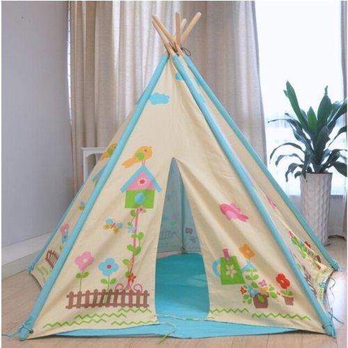 Children's Indoor and Outdoor Butterfly Garden Wigwam Teepee Tent